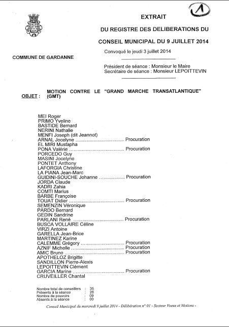 Gardanne motion Tafta 1