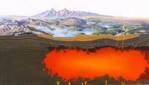 Le grand lac de lave sous la cadéra du supervolcan de Yellowstone se rapproche dangereusement de la surface. Le sort de  nombreuses espèces dépend de sa stabilité.