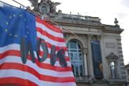 stopTAFTA Montpellier drapeau StopTafta / StopTTIP