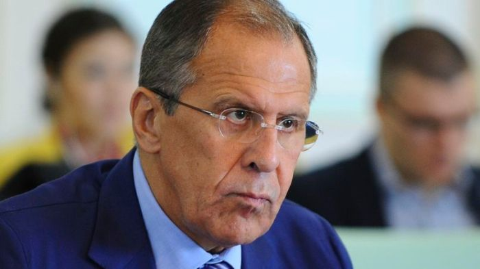 Russian FM Lavrov attends a meeting with Kazakhstan's FM Idrisov in Astana